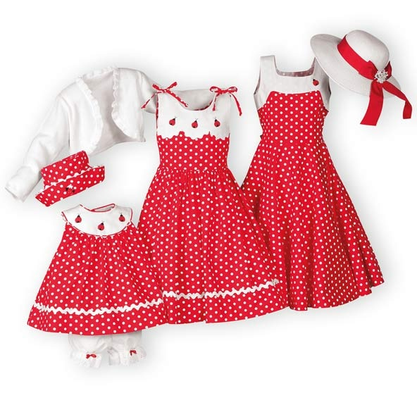 I want these dresses for the girls for Easter. Having 4 GIRLS means I can dress them all alike, right?!