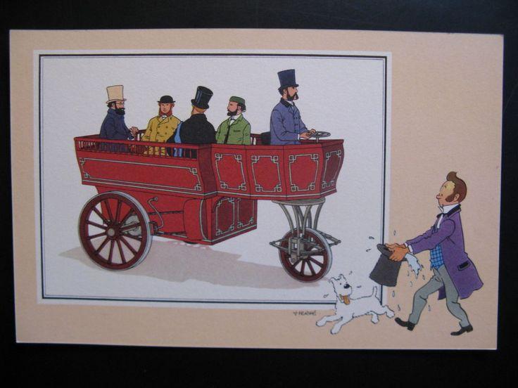 Chromo Hergé...Voir et Savoir Automobile Album 1 Origines Casterman 1954 TinTin.