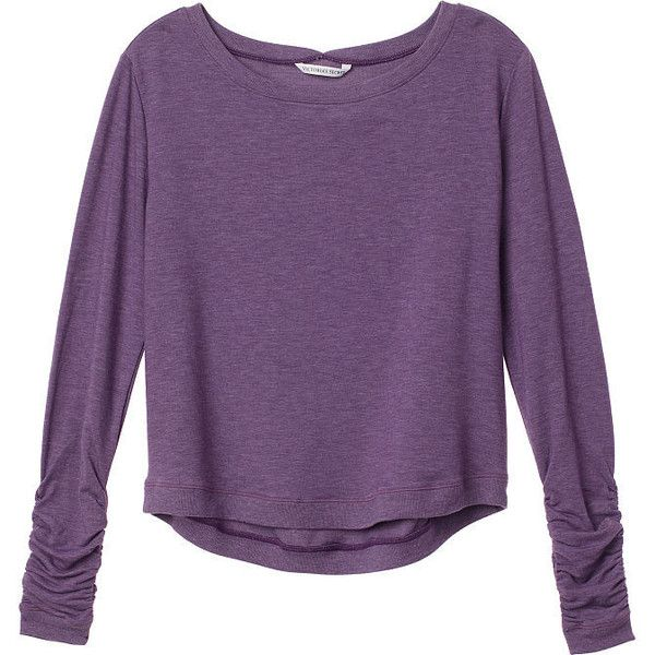Super Soft Knits (130 BRL) ❤ liked on Polyvore featuring tops, shirts, long sleeves, purple, long sleeve tops, knit shirt, knit top, long sleeve knit tops and shirt tops