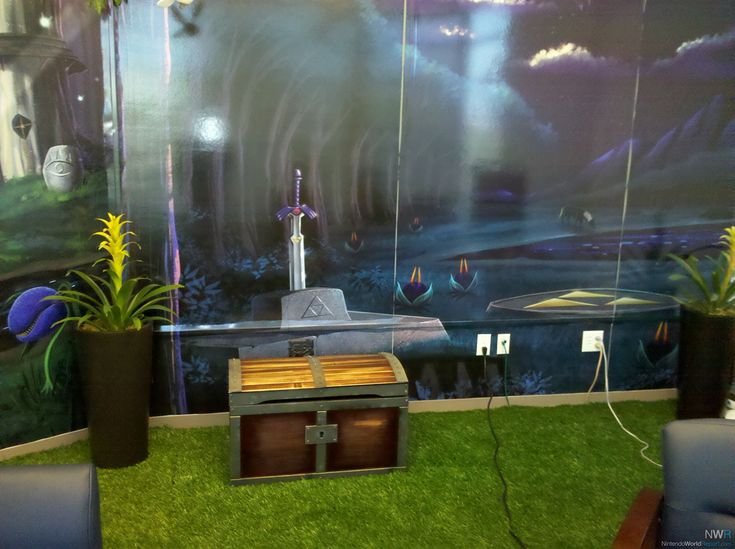 Game rooms zelda and video games on pinterest for Decoration zelda