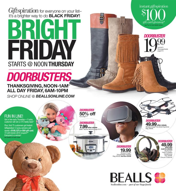 Bealls (Stage Stores) Black Friday 2016 Ad - http://www.olcatalog.com/blackfriday/bealls-black-friday.html