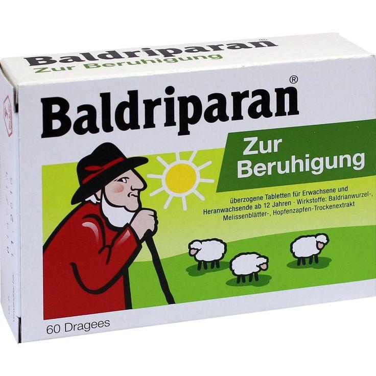BALDRIPARAN Zur Beruhigung überzogene Tabletten:   Packungsinhalt: 60 St Überzogene Tabletten PZN: 10124795 Hersteller: Pfizer Consumer…
