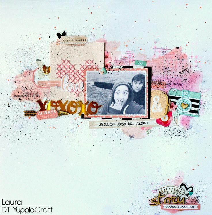 Scrapbooking layout  #LO #layout #legneti #yupplacraft