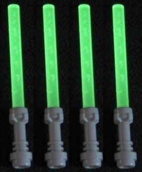 Lego Lightsaber Lot of 4: Glow-in-the-Dark Lightsabers with Hilts * See this great product.