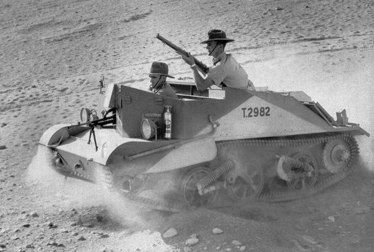 One of the Bren gun carriers used by Australian light horse troops in Northern Africa, on January 7, 1941.