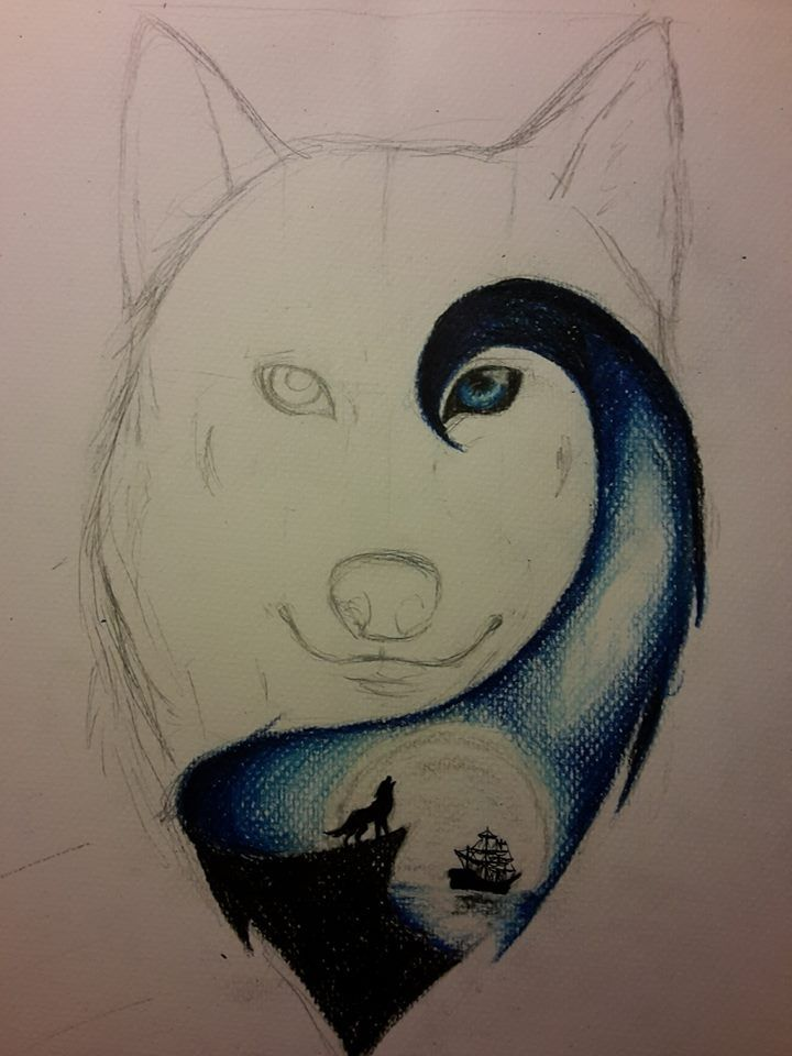how to draw an awesome wolf