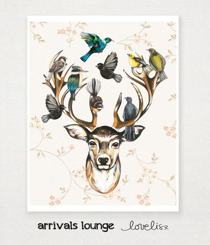 Arrivals Lounge – Love, Lis x #lovelisx #nznative #stag #tui #fantail #kingfisher #kokako