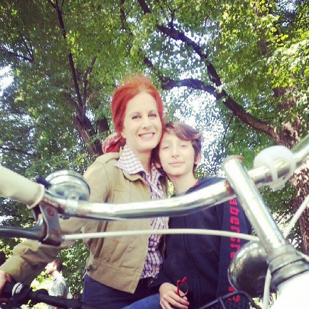 The RedHead, Rossana Diana and Eddy @ cyclepride in Milano
