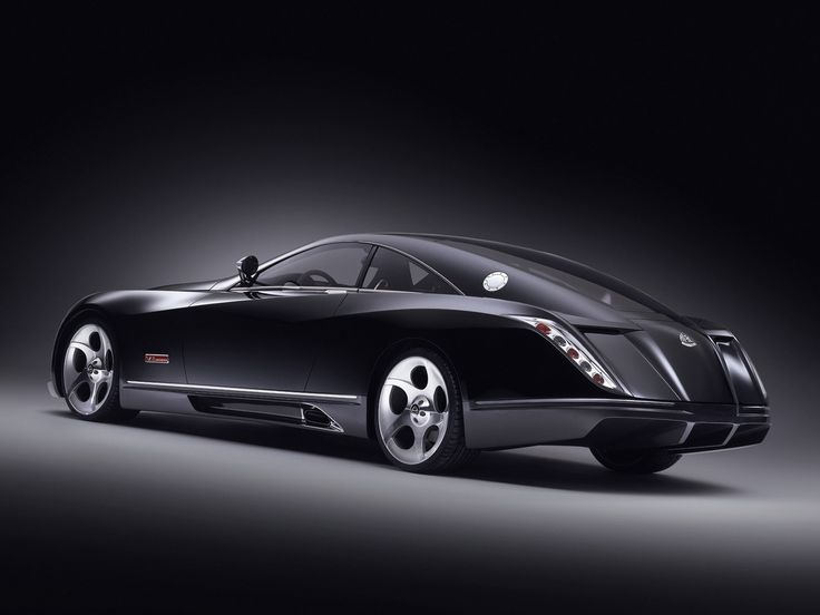 maybach+car | Maybach Exelero v12 Biturbo black expensive luxurious car.