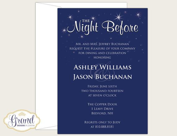 The Night Before Rehearsal Dinner by GrandDesignsbyJoanna on Etsy