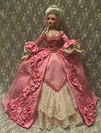 Barbína * růžové šaty Marie Antoinette