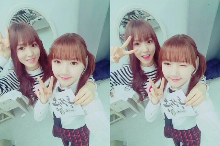 [Pictures] Twin sisters Raina and Ye Won took a selca
