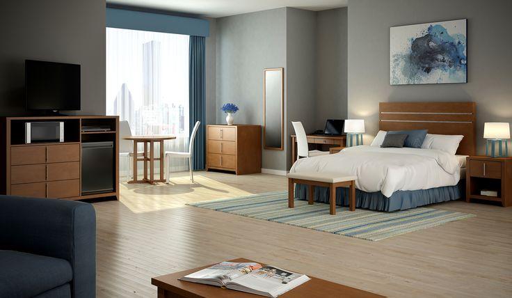 Chambre d'hôtel classique, design 3D. Classical Hotel room 3D.