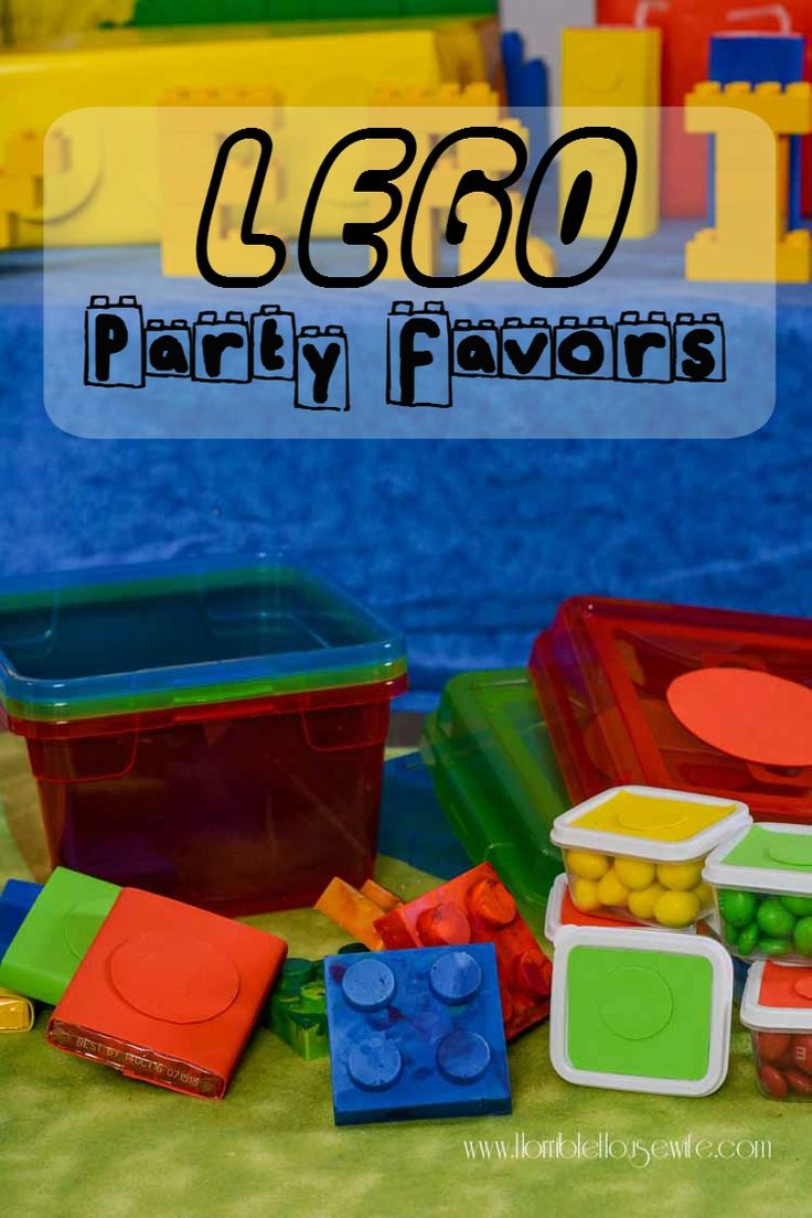 LEGO Party Favors   http://horriblehousewife.com/2016/03/lego-party-favors/