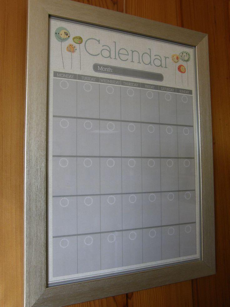Dry Erase Wall Calendar Https Www Etsy Com Au Listing