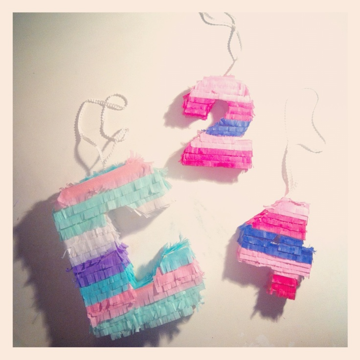 DIY piñatas! Tedious, but very easy.