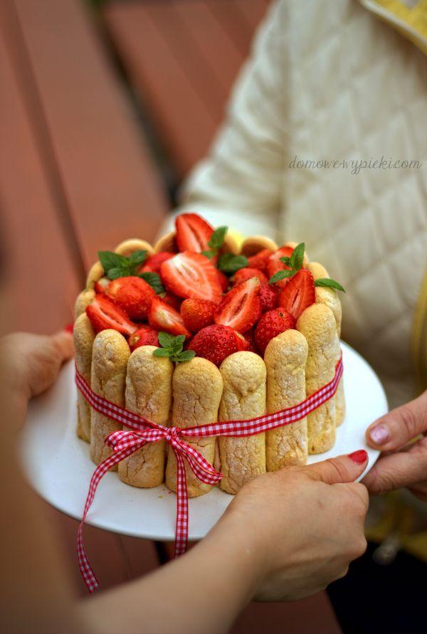Strawberry Rhubarb Charlotte