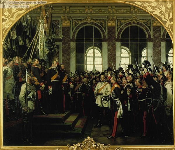Anton von Werner, <i>The Proclamation of the German Empire (January 18, 1871)</i> – Friedrichsruh Version (1885)