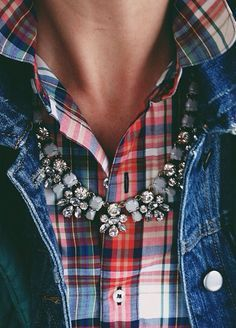 plaid and bling