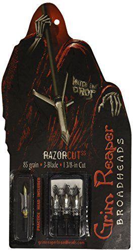 Grim Reaper Razorcut Broadhead - 85 Grain by Grim Reaper Broadheads. Grim Reaper Razorcut Broadhead - 85 Grain. One Size.