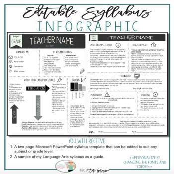 Best  Class Syllabus Ideas On   High School Syllabus