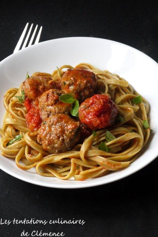 Boulettes de bœuf au parmesan, basilic et tomates confites