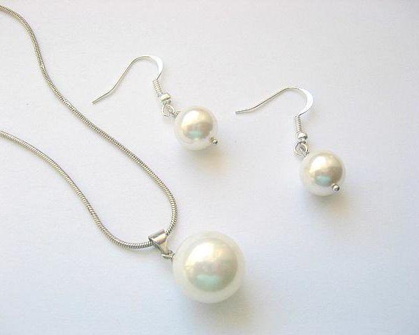 Set mireasa cu perle Mallorca - bijuterii nunta - bijuterii femei