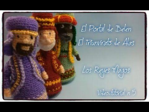 Portal de Belen amigurumi - Video 5 - Los Reyes Magos - Alas de Hada y G...