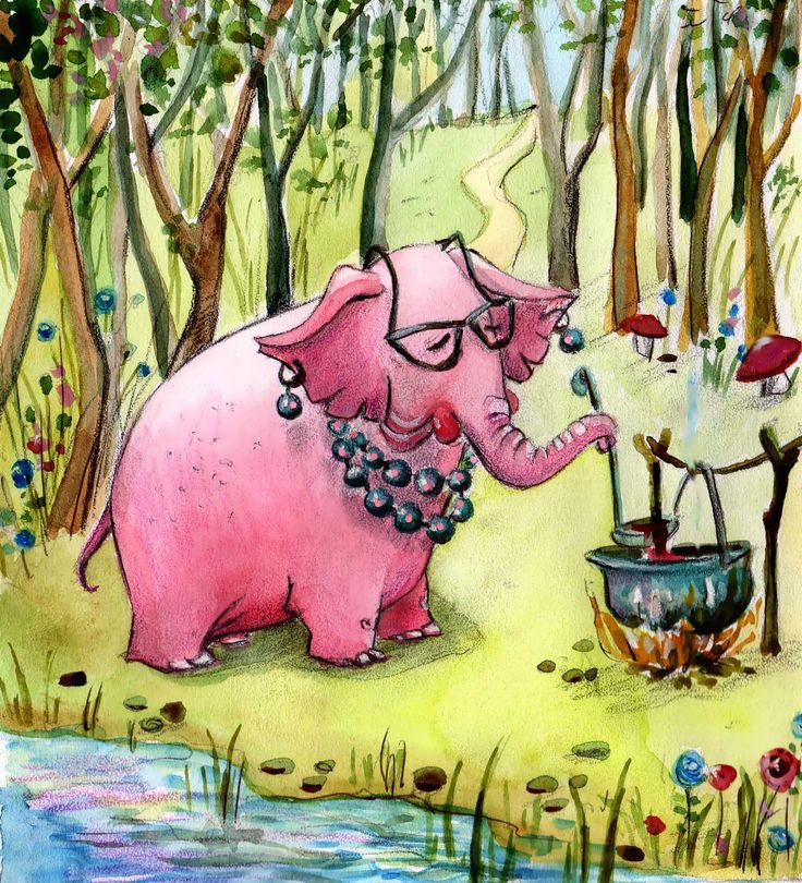 When the elephants were pink 3