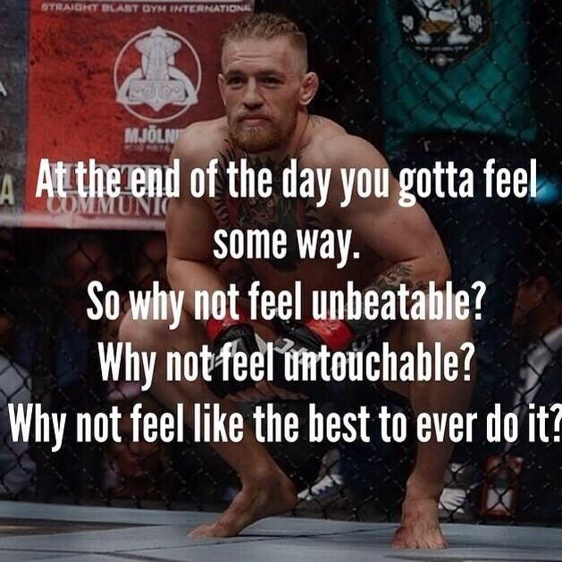 """At the end of the day you gotta feel some way. So why not feel unbeatable? Why…"