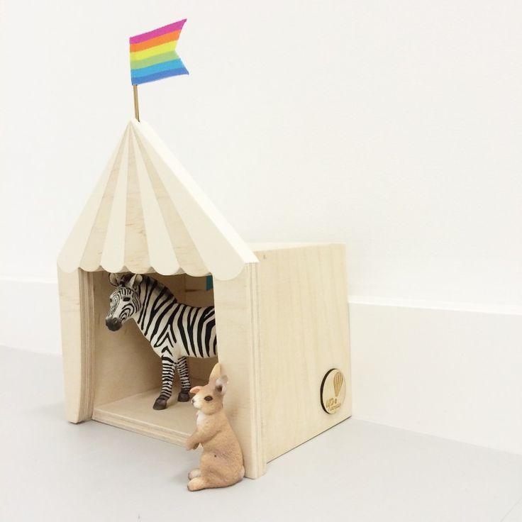 mini circus kinderkamer decoratie kidsroom bijzonder speelgoed handgemaakt
