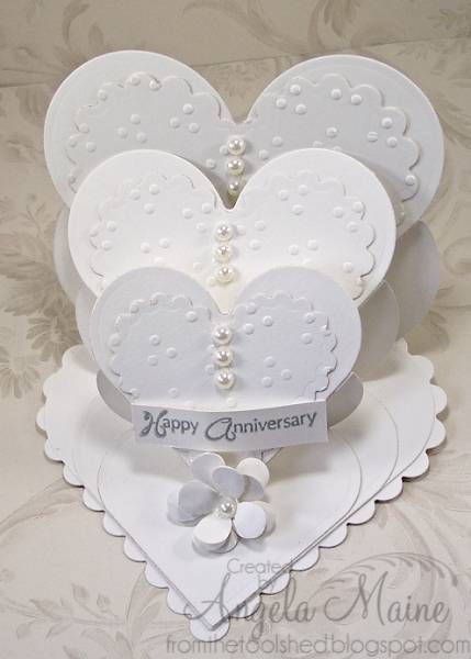Gorgeous creation by Angela Maine on SCS.   TLC380 Triple Tiered Easel Hearts