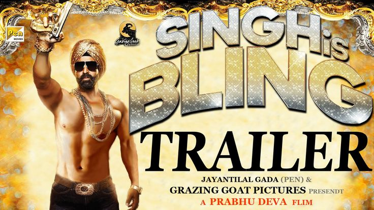 Akshay Kumar starred movie *Singh is Bling Official Trailer video is out today. Watch and Download Singh is Bling movie full trailer video and details.