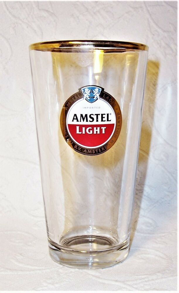 Amstel Light Imported Lager Pint Glass Holland Brouwerij B V