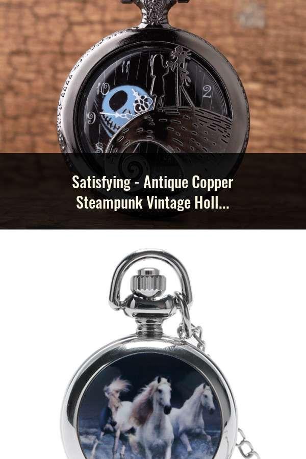 0956fc3b1 Antique Copper Steampunk Vintage Hollow Bronze Gear Hollow Quartz Pocket  Watch Necklace Pendant Clock Chain Men's Women 2017