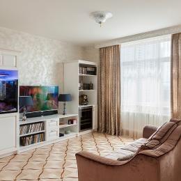 2017 ГОСТИНЫЕ фото гостиная в классическом стиле в нейтральных оттенках, Москва, Irina Krivtsova Design