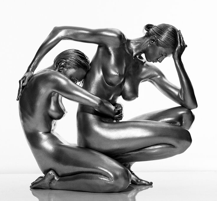 Guido Argentini's Silver series of Nude Portraits - see more on blog