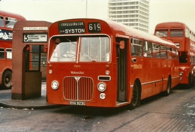 Midland Red single decker at St. Margaret's bus station, Leicester