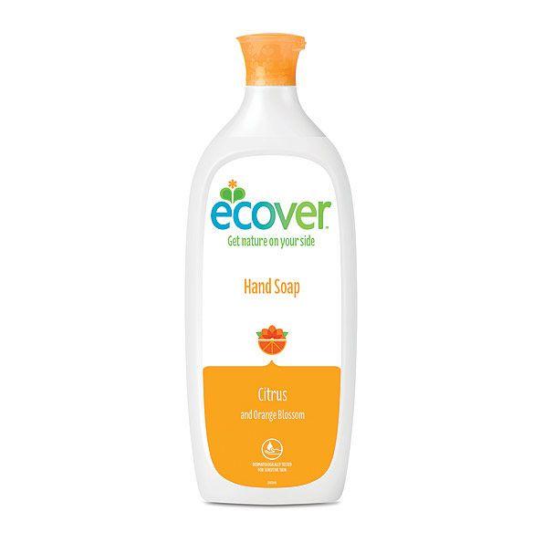 ECOVER folyékony szappan 1l - természetes, környezetbarát, természetes komponensekből készült. Narancs illat. Új csomagolás.