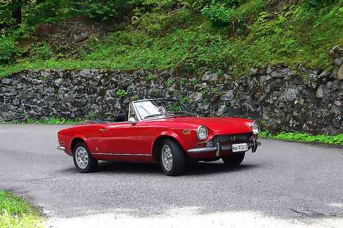 Fiat 124 Spider...had a blue one, had a red one. I really want another.
