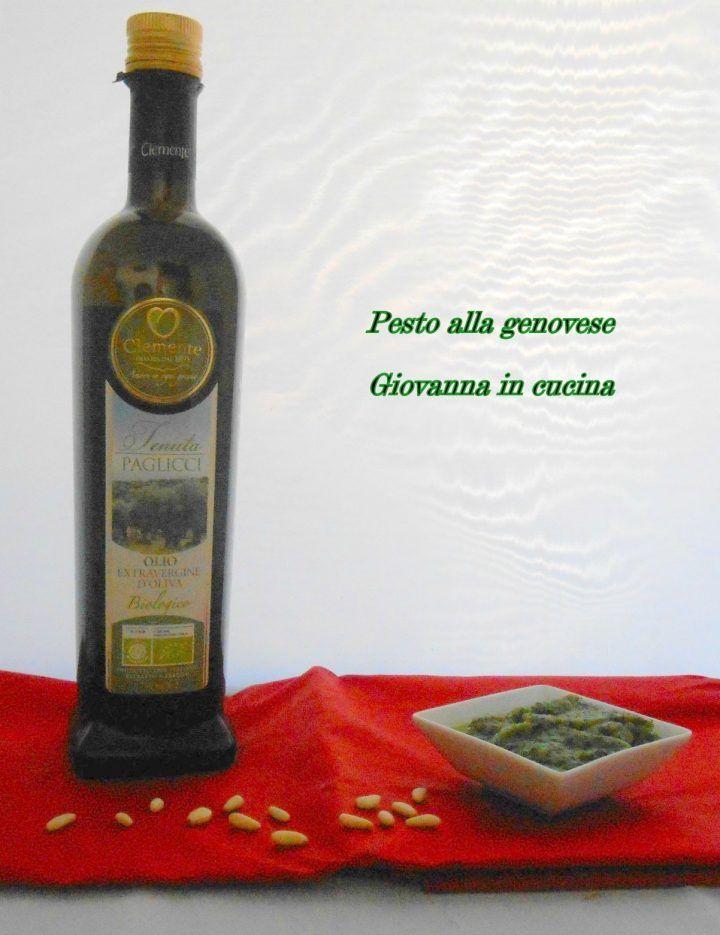 pesto alla genovese, basilico, olearia clemente, giovanna in cucina
