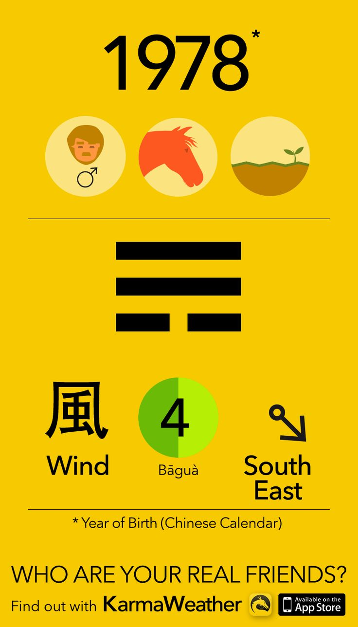 Feng Shui BaGua basics if you're a man born in 1978 (Chinese zodiac calendar), year of the Earth Horse, by Karma Weather #KarmaWeather
