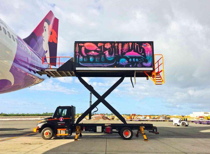 BMD x Hawaiian Airlines, for PowWow Hawaii, Honolulu, 2015. Photo: Artists own.