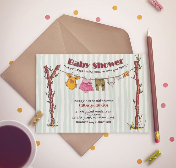 $A15 Baby shower- baby shower invitation - illustrated illustration - gender reveal invitation -party invitation by CardwellandInk on Etsy