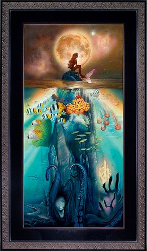 The Little Mermaid - if you look closely you can see Sebastian and Flounder just below the waterline and then down the bottom are Flotsam and Jetsam along with Ursula's tentacles coming out of the cave... very cool :)
