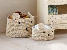 Face Knit Baskets from Next