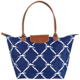 LONGCHAMP GRID BAGS WHITE BLUE
