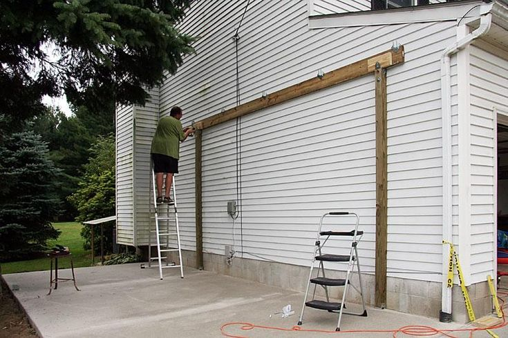 How to build a carport attached to house free standing for Free standing carport plans
