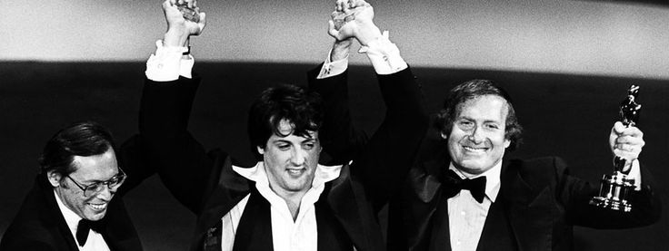 Irwin Winkler wins the Academy Award for Best Picture, 1977. Rocky // We are the champions!