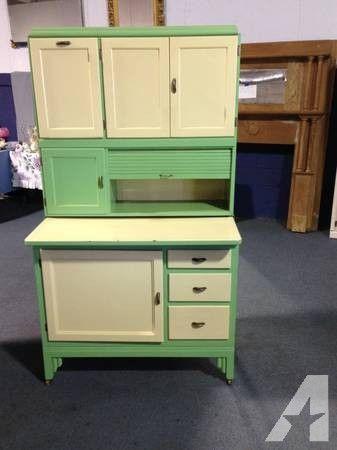True Vintage Hoosier Cabinet Beautiful Shape - for Sale in Alma ...                                                                                                                                                                                 More
